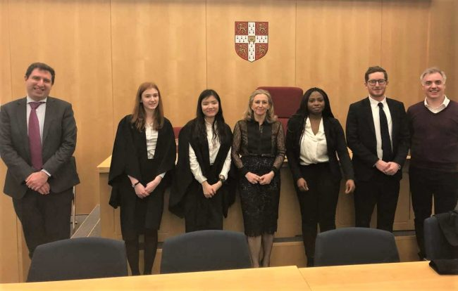 Image of Cuppers Moot finalists 2020 and Atkin Members